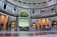 Since the Renaissance, the Pantheon has also been used as a tomb. Many important people are buried here, including the painters Raphael Sanzio da Urbino and Annibale Carracci, the composer Arcangelo Corelli, and the architect Baldassare Peruzzi. Image from: https://www.awesomestories.com/images/user/ba64acc32b.jpg