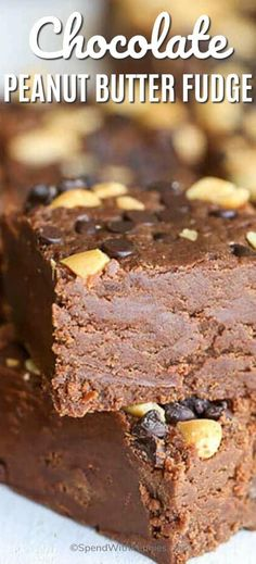 Chocolate peanut butter fudge is a simple dessert recipe that the whole family will love. We love adding peanut butter cups on top of ours!#spendwithpennies #fudge #chocolatefudge #peanutbutterfudge #chocolatepeanutbutterfudge #chocolate #peanutbutter