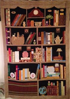 Bookcase Quilt Along - Page 8 - Quilt Along Groups meet here - QATW Quilting Forum Love the black as the back of the quilt. She did a great job on this quilt.