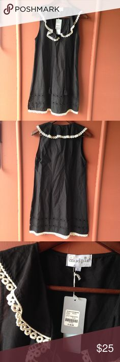 Mudpie dress Black dress with cream eyelet embroidery NWT ❌NO TRY ON ❌NO TRADES Mudpie Dresses