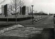 Datering tot: 1964-12-31 Beschrijving: Gezien vanaf het plateau voor het Café Restaurant Europoort. Links de twee sterflats aan de Havendijk.