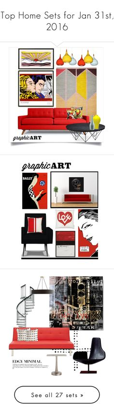 """""""Top Home Sets for Jan 31st, 2016"""" by polyvore ❤ liked on Polyvore featuring interior, interiors, interior design, home, home decor, interior decorating, Thrive, Sarreid, graphicart and Maxwell Dickson"""