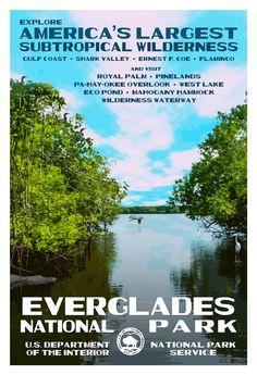 In the Gulf Coast region, Everglades National Park.