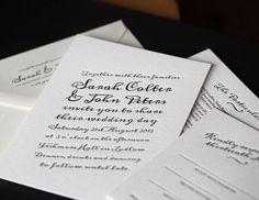 Calligraphy Letterpress Wedding Invitation Suite £365.00