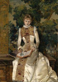 Das Vergissmeinnicht (1886). Gabriel Schachinger (German, 1850–1913). Oil on canvas.
