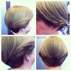 #classic #wedge #haircut by our very own master stylist and salon owner Karla! #skills