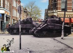 Groningen, 1945, Zuiderdiep, Sherman tank Canadian Soldiers, Sherman Tank, D Day, Troops, Military Vehicles, Ww2, World War, Monster Trucks, Germany