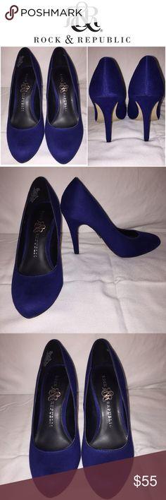 Heals Gorgeous like new dark blue Rock & Republic heals size 6, 4 inch heel Rock & Republic Shoes Heels