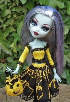 ooak monster high halloween doll