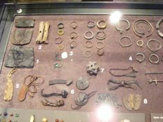 Slavic jewellery and accessories from the museum in Opole, Poland.
