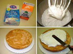 Guava Chiffon Cake Guava Chiffon Cake Recipe, Hawaiian Desserts, Meringue Cake, Whipped Cream Frosting, Pink Foods, Cake Board, Cake Flour, Cream And Sugar, Cake Batter