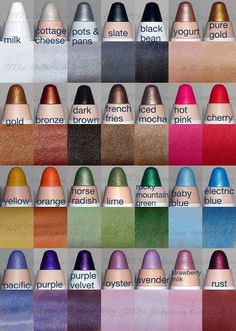NYX Cosmetics eyeshadow pencils - I love the french fries color (weird name but pretty color) -L
