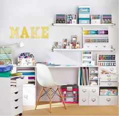 Idea for craft room storage