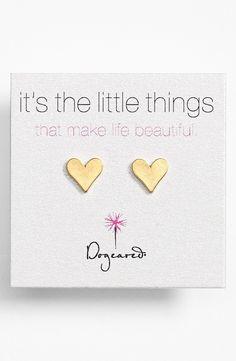 Tiny Heart Stud Earrings #valentinesday