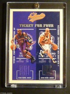 02-03 Fleer Authentix Ticket for Four VINCE CARTER McGrady QUAD NBA Jersey #/200