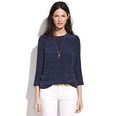 Silk High Tea Top / Madewell #top #shirt