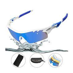 5216656dd4b Amazon.com   HODGSON Polarized Sports Sunglasses with 5 Interchangeable  Lenses for Men Women Cycling Baseball Running Glasses