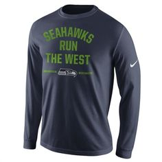 Nike Seattle Seahawks College Navy 2014 www.teelieturner.com NFC West Division Champions Long Sleeve T-Shirt Your beloved Seattle Seahawks are the 2014 NFC West Division Champions! So go ahead and celebrate their hard-fought season in style with an awesome T-shirt! $33.95 #football