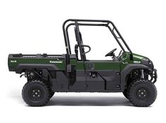 New 2016 Kawasaki Mule Pro-FX™ EPS ATVs For Sale in California. The Mule PRO-FX™ EPS Side x Side has Electric Power Steering that self adjusts to deliver the necessary steering assistance based on speed, while also damping kickback to the steering wheel. Cargo bed can fit a standard size 40 x 48 pallet with up to 1,000 lbs. of cargo capacity 812 cc three-cylinder engine with massive torque, impressive pulling power, and smooth acceleration to tow heavy loads across rugged terrain The…