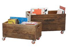 Our Rolling Storage Crates are a Great Toy Organizing Solution on @Babble!