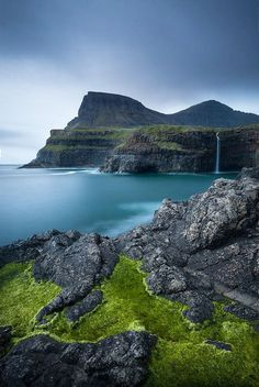 the Faroe Islands Gasadalur waterfall