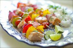 temp-tations by Tara: Salmon  Veggie Kabobs