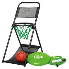 Dunlop Portable Basketball & Frisbee Game Set with Foldable Chair - Fast Paced Basketball Fun Game - Portable Game Ideal for Picnic & Camping - Game Includes Ball, Frisbee, Chair & Inflator Pump Basketball Academy, Wsu Basketball, Basketball Games For Kids, Basketball Floor, Indoor Basketball, Adidas Basketball Shoes, Basketball Players, Baseball Field Dimensions, Captain America Toys