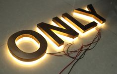 Supply-Bronze-Reverse-Lit-Channel-Letter-Sign