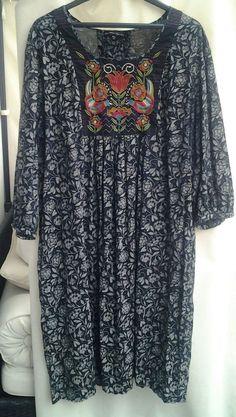 Wunderschönes Gudrun Sjöden Kleid,GR.XL,100% Biobaumwolle, tolle Stickerei    eBay 267e6fd843c