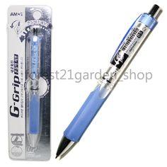Amos G-Grip 0.5mm Shaker Soft Rubber Grip Mechanical Pencil - Blue Barrel