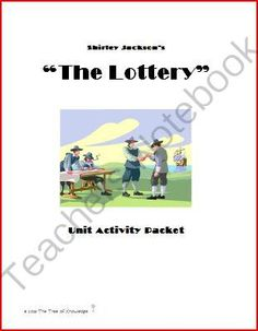 """""""The Lottery"""" Unit Activity Packet from The Tree of Knowledge on TeachersNotebook.com -  (8 pages)  - """"The Lottery"""" Vocabulary Plot Development Short Story Point of View Character Analysis Tone Irony Reading Comprehension Symbolism Imagery  Theme"""