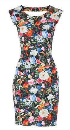 Floral pencil dress quiero <3
