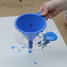 Funnel Painting Process Art for Kids | Still Playing School