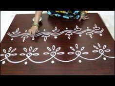 freehand border designs for diwali- free hand rangoli borders - YouTube