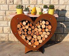 Porta legna in #corten
