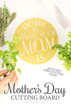 Use the free cutting file included in this tutorial to make a Mother