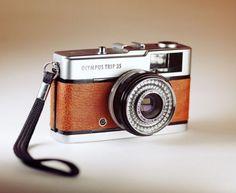 Olympus Trip 35 / BROWN Leather Skin / Vintage 35mm film / LightBurn Restored Camera / £39.99