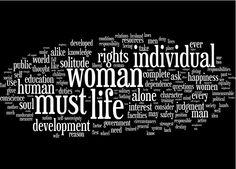 "words from Elizabeth Cady Stanton's ""Solitude of Self"" (1984)"