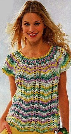 Diy Crafts - Summer Crochet TOP,Pattern with Chats only written instruction.Only in PDF files