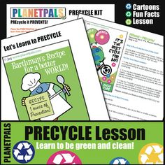 Planetpals Precycle Recycle Lesson Activities Earth Science Environment Earth Every Day - Amped Up Learning Interactive Activities, Classroom Activities, Lessons For Kids, Lessons Learned, Teaching Kids, Kids Learning, Activity World, Earth Science Lessons, Friendship Activities
