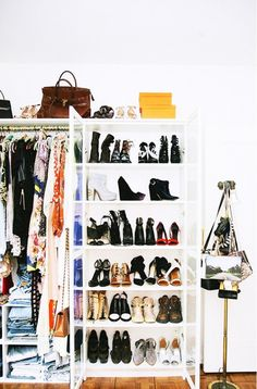 Small Closet Tip: Remove non-clothing items that don't belong in a closet