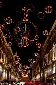Torino,Italy Luci d'artista. #lucidartista, province of Turino , Piemonte region Italy