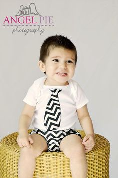 Little Boys Diaper Cover and Onesie with Tie by pinkmouse on Etsy, $28.00