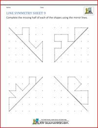 tricky line symmetry worksheet with 2 mirror lines on each grid matematik pinterest. Black Bedroom Furniture Sets. Home Design Ideas