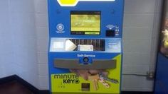 The MinuteKey kiosk, a fully-automated key duplicated kiosk that combines innovations in robotics, electronics and software engineering.