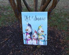 Adorable Snowman Garden Flag or Door Hanger.Perfect this holiday season. Christmas Garden Flag, Garden Flags, Door Hangers, Burlap, Applique, Monogram, Bows, Unique Jewelry, Handmade Gifts