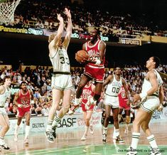 "Sports Illustrated   ""God disguised as Michael Jordan,"" Larry Bird said after Jordan scored 63 points in a 1986 playoff vs. the @celtics."