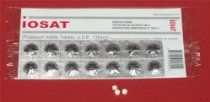 The FDA approved IOSAT Potassium Iodide tablet works by saturating the thyroid with stable iodine so it will block the thyroid's absorption of cancer-causing