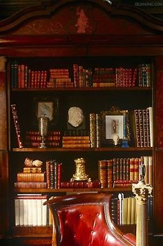 Beautifully styled gentleman's bookcase