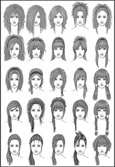How To Draw Hair Women S Hair Set 4 With Thanks To Dark Sheikah